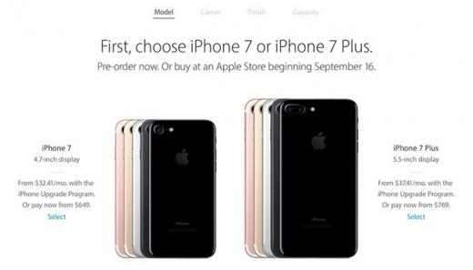 Apple начала прием предзаказов наiPhone 7